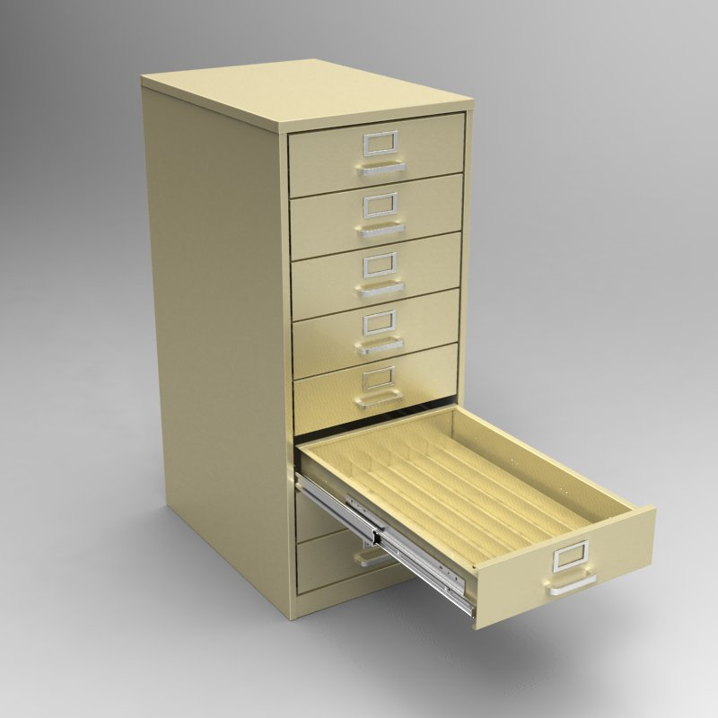 Steel Fixture Desk Files E28