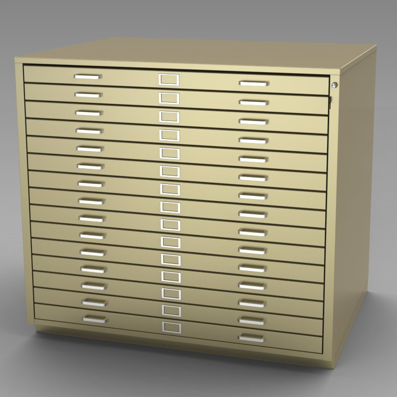 Steel Fixture Flat Files 5542 15 Drawer