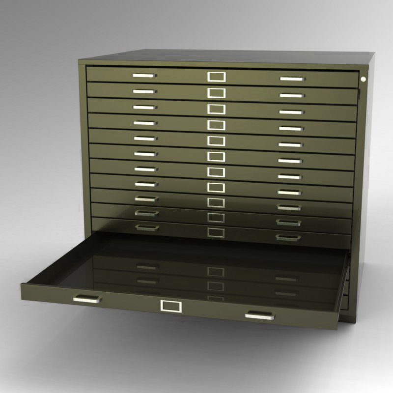 Steel Fixture Flat Files 5542 15 Drawer