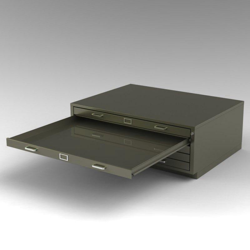 Steel Fixture - Flat Files - 5542 - 5 Drawer