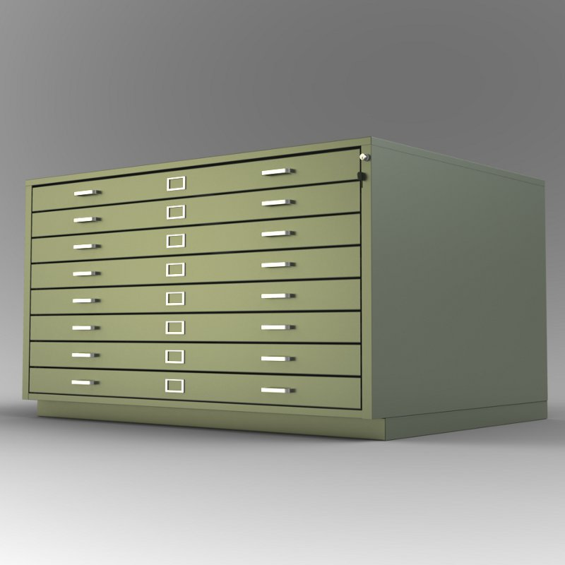 Steel Fixture Flat Files 6550 8 Drawer