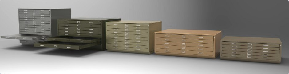 Steel Fixture Flat File Storage